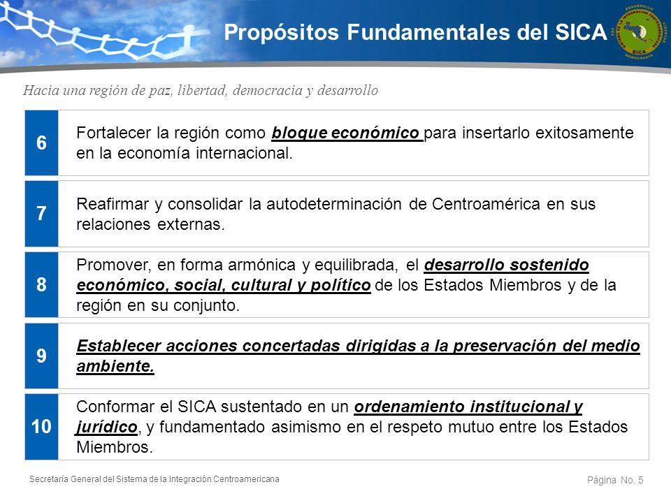 Propósitos Fundamentales del SICA