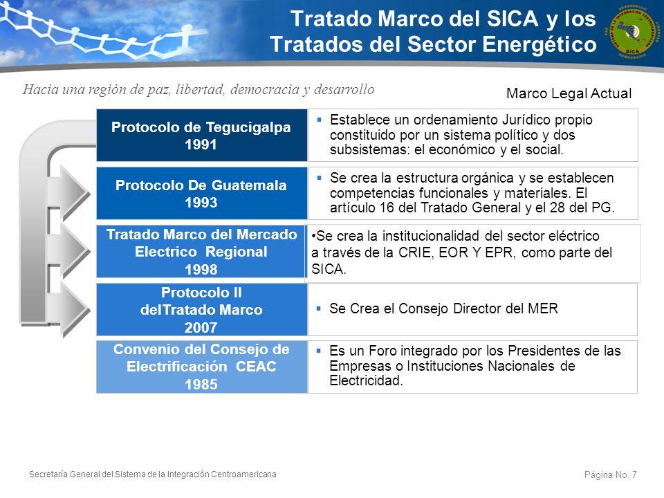 Tratado Marco del SICA y los Tratados del Sector Energético