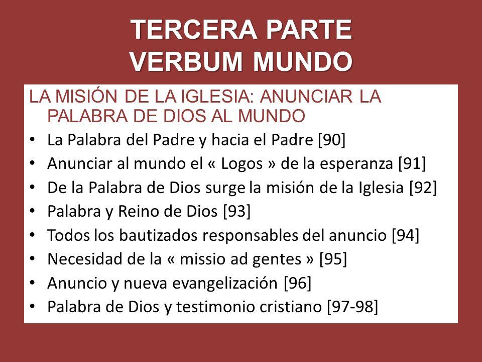 TERCERA PARTE VERBUM MUNDO