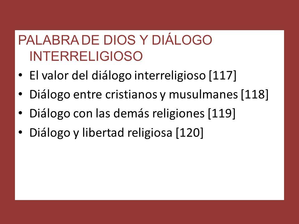 PALABRA DE DIOS Y DIÁLOGO INTERRELIGIOSO