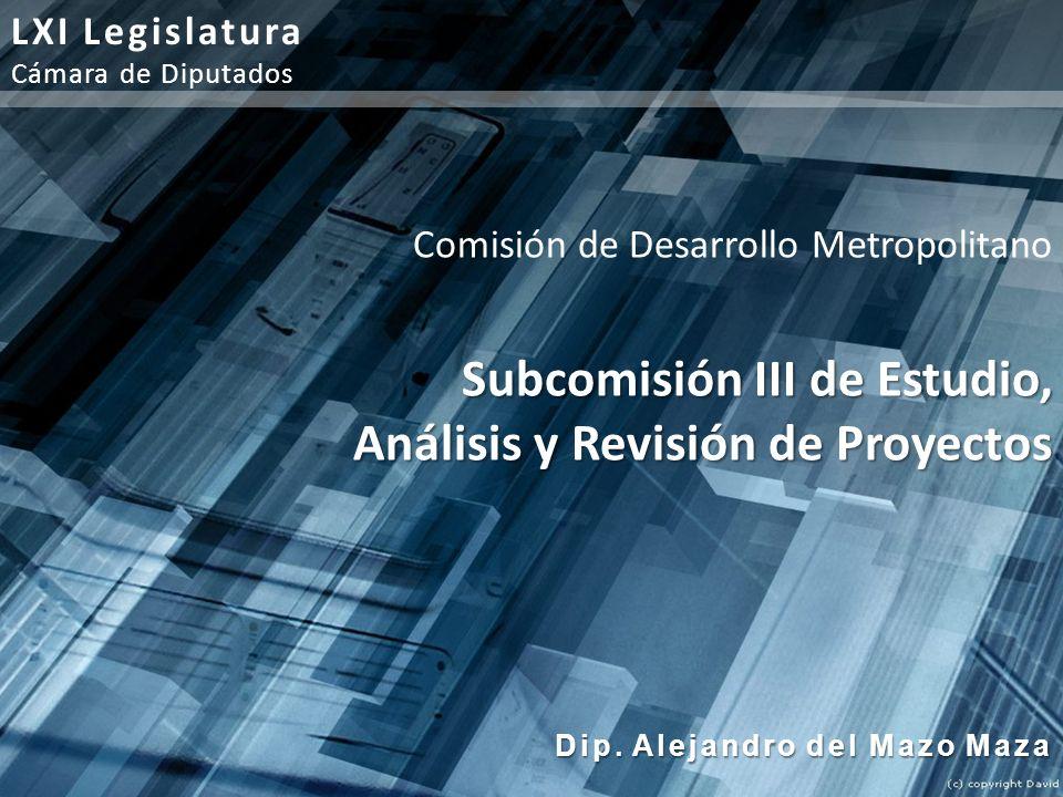Subcomisión III de Estudio, Análisis y Revisión de Proyectos