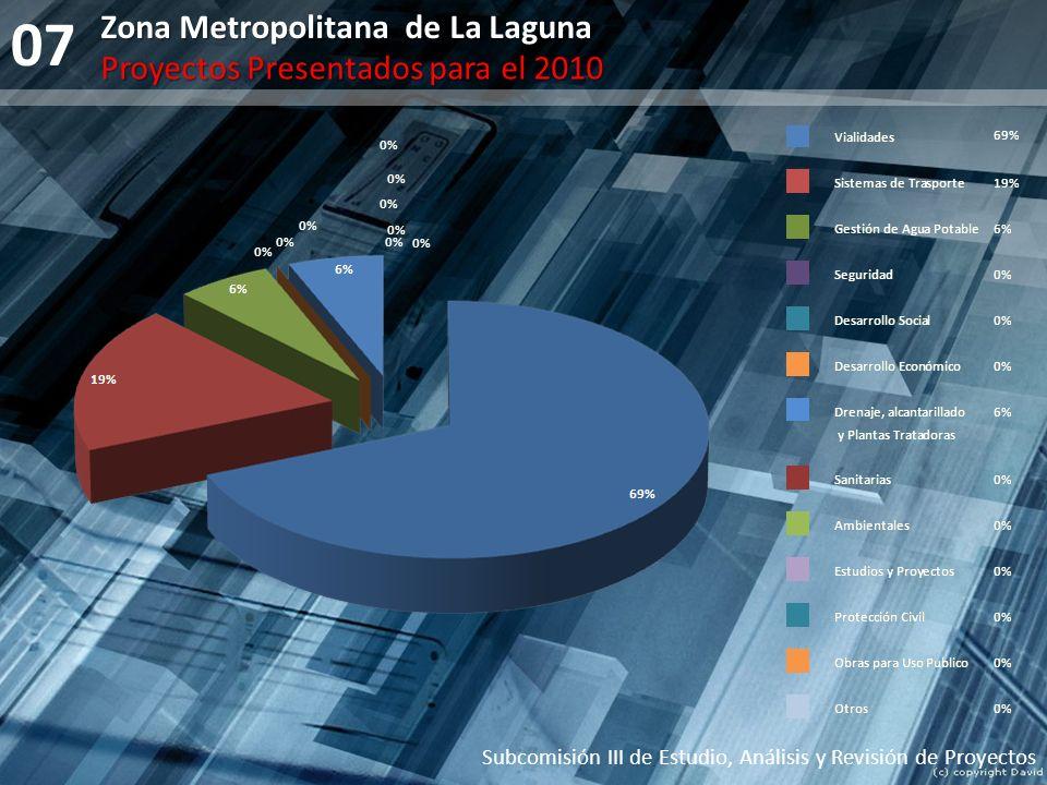 07 Zona Metropolitana de La Laguna Proyectos Presentados para el 2010
