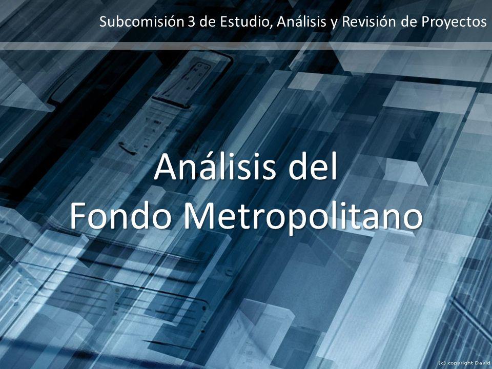 Análisis del Fondo Metropolitano