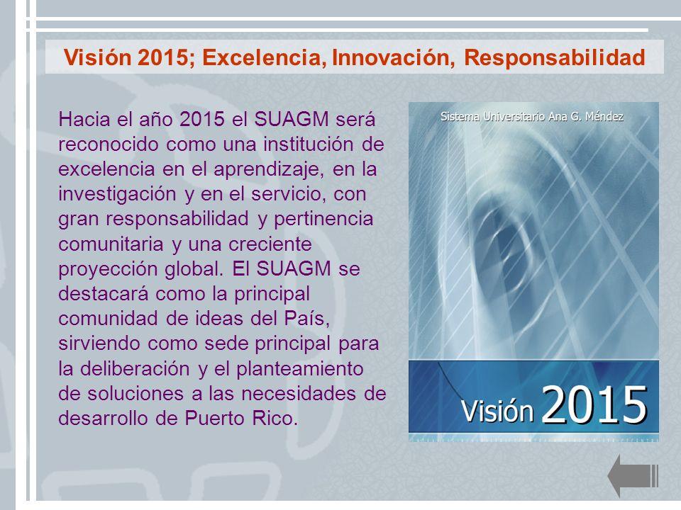 Visión 2015; Excelencia, Innovación, Responsabilidad