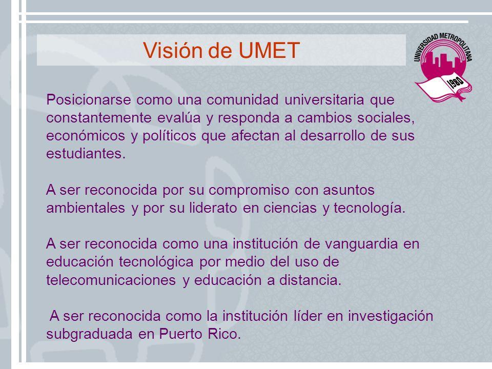 Visión de UMET