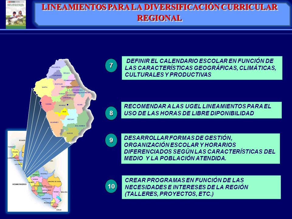 LINEAMIENTOS PARA LA DIVERSIFICACIÓN CURRICULAR REGIONAL