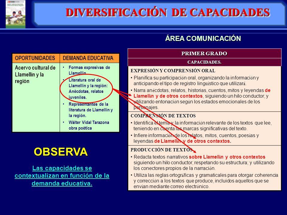 DIVERSIFICACIÓN DE CAPACIDADES