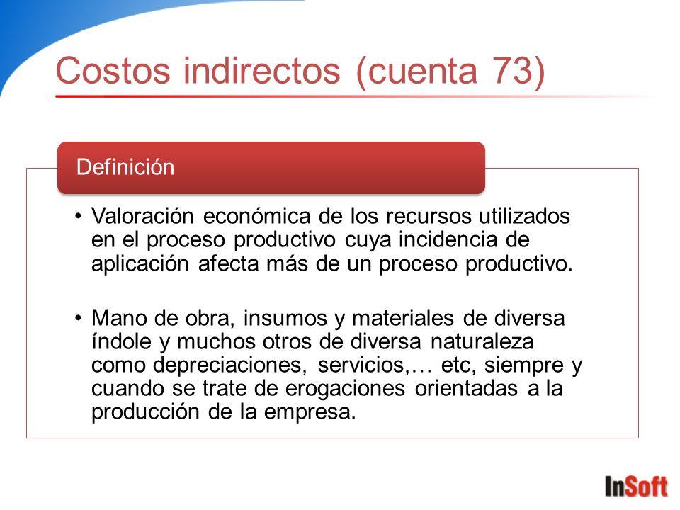 Costos indirectos (cuenta 73)