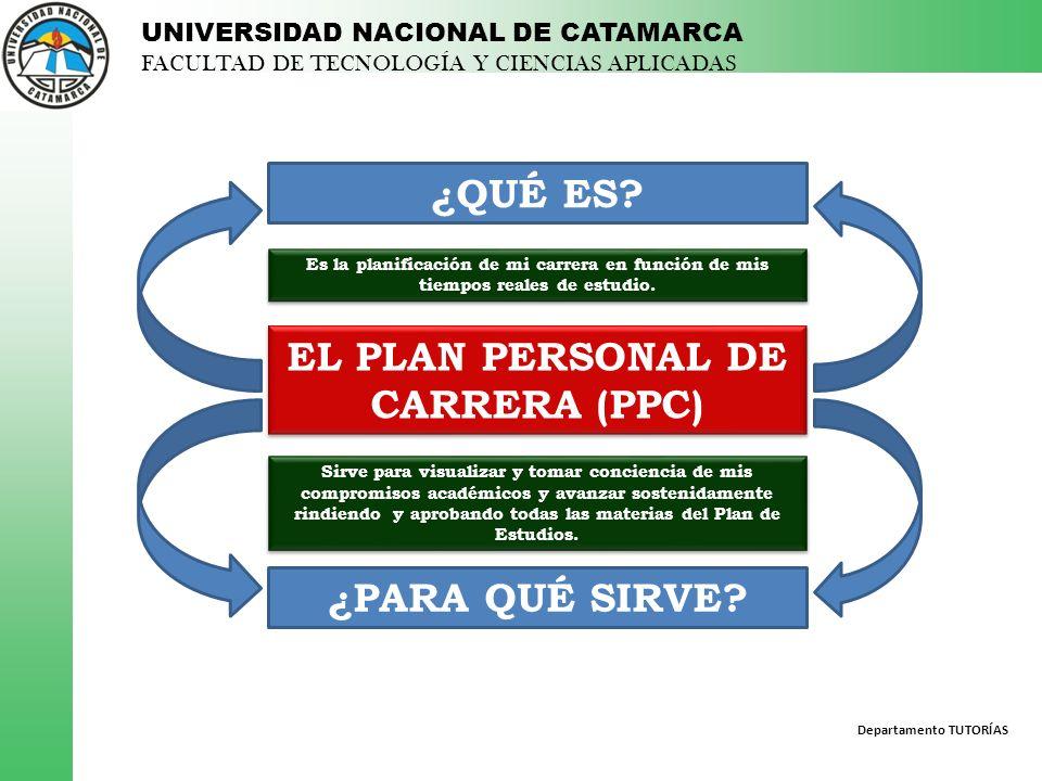 EL PLAN PERSONAL DE CARRERA (PPC)