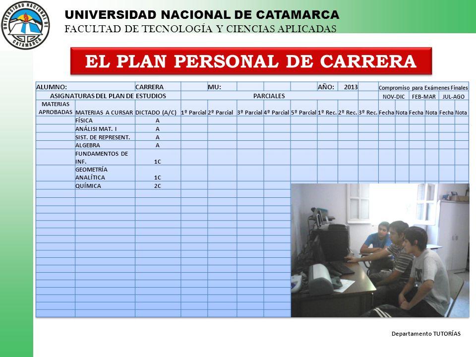 EL PLAN PERSONAL DE CARRERA
