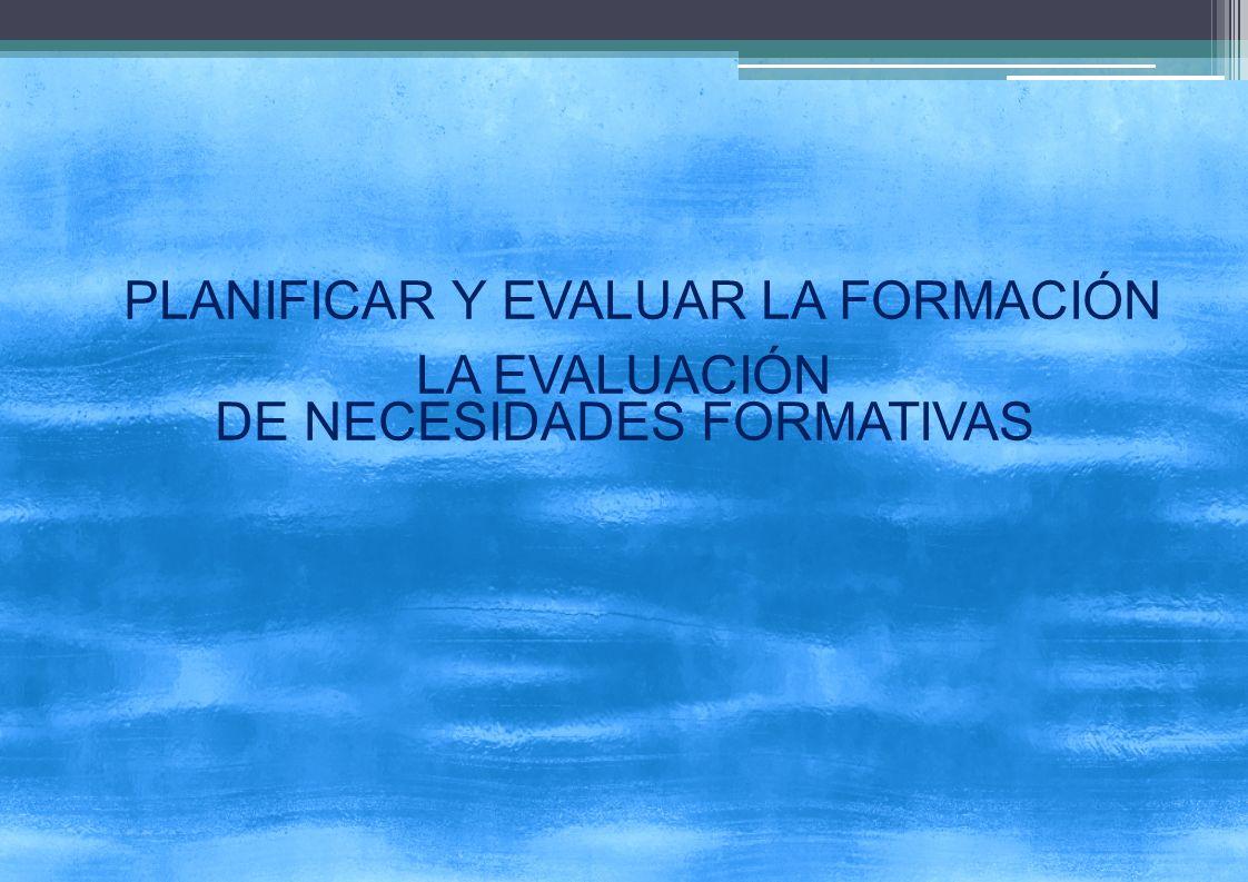 DE NECESIDADES FORMATIVAS