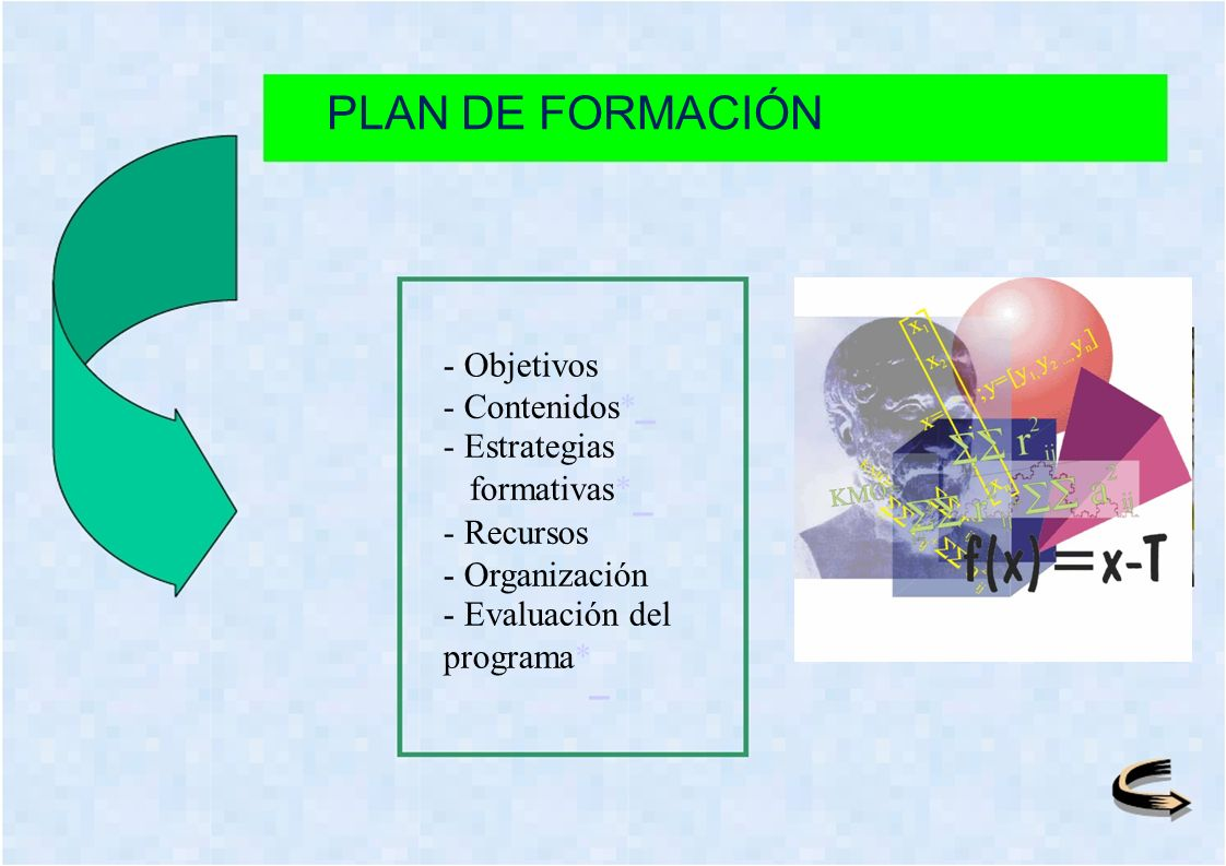 PLAN DE FORMACIÓN - Objetivos - Contenidos* - Estrategias formativas*