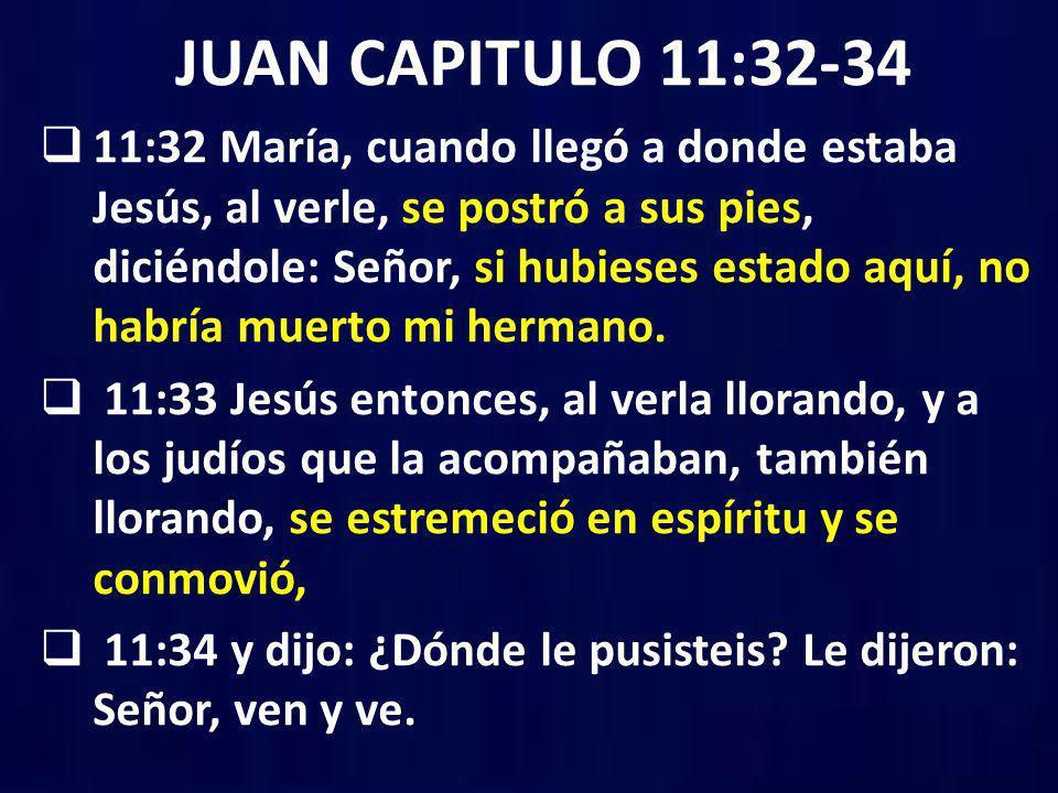 JUAN CAPITULO 11:32-34