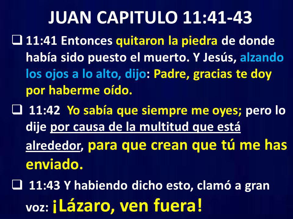 JUAN CAPITULO 11:41-43