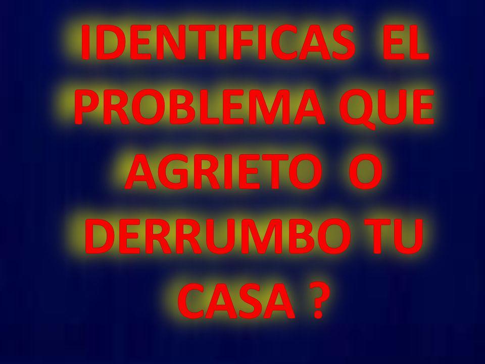 IDENTIFICAS EL PROBLEMA QUE AGRIETO O DERRUMBO TU CASA