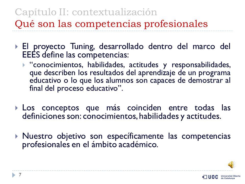 Capítulo II: contextualización Qué son las competencias profesionales