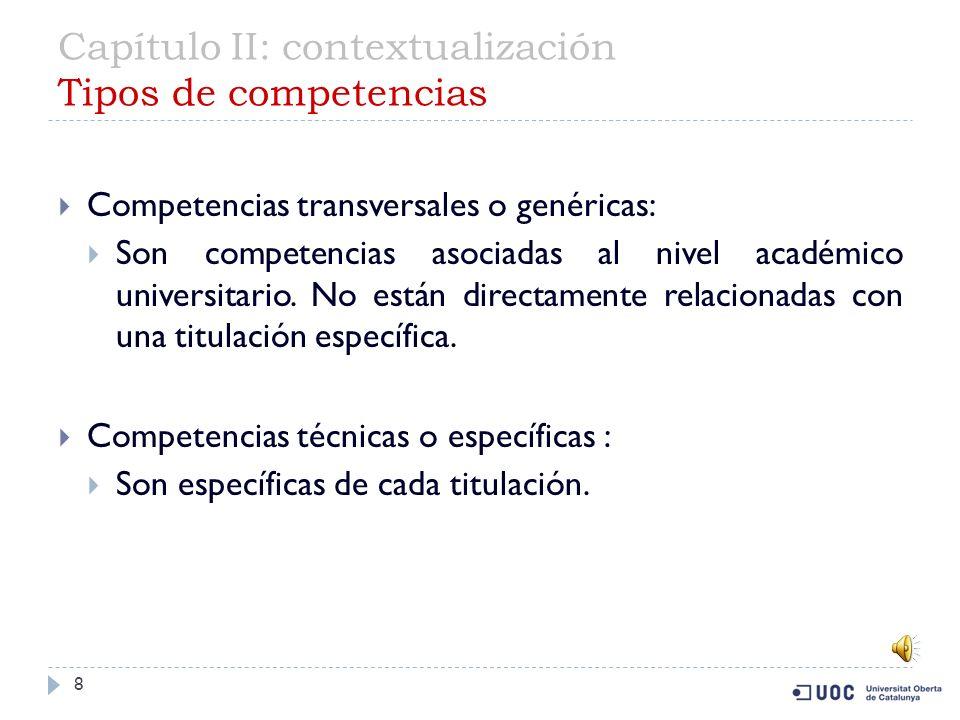 Capítulo II: contextualización Tipos de competencias