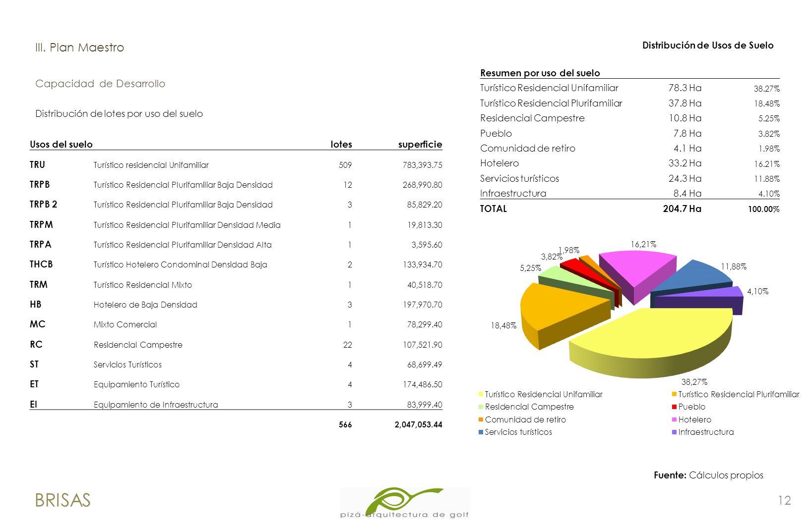 BRISAS lII. Plan Maestro Capacidad de Desarrollo