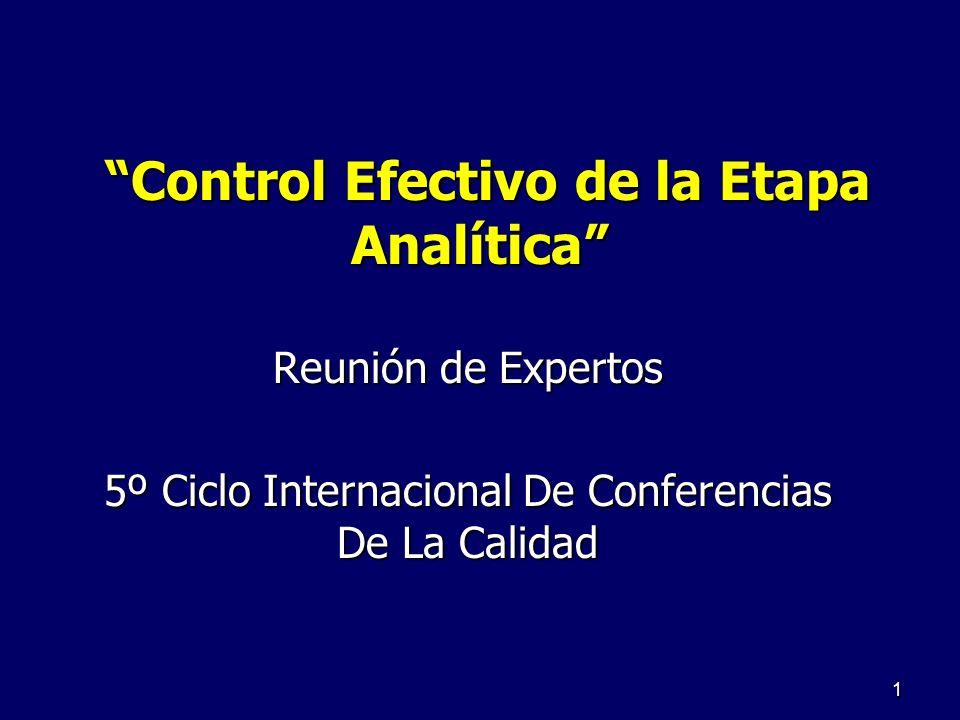 Control Efectivo de la Etapa Analítica