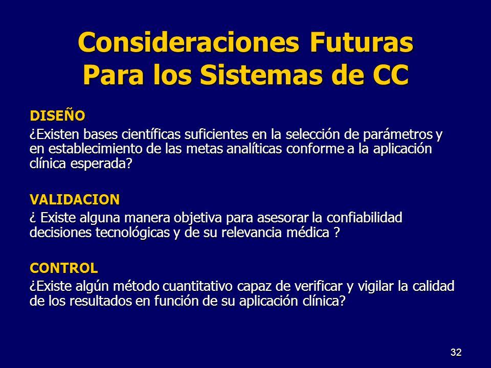 Consideraciones Futuras Para los Sistemas de CC