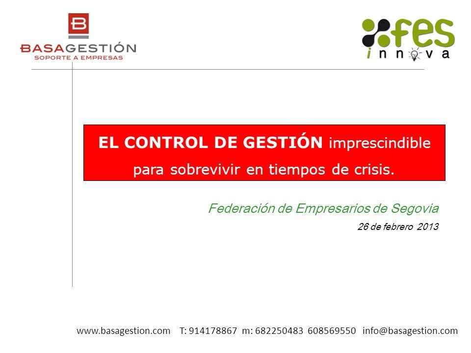 EL CONTROL DE GESTIÓN imprescindible para sobrevivir en tiempos de crisis.