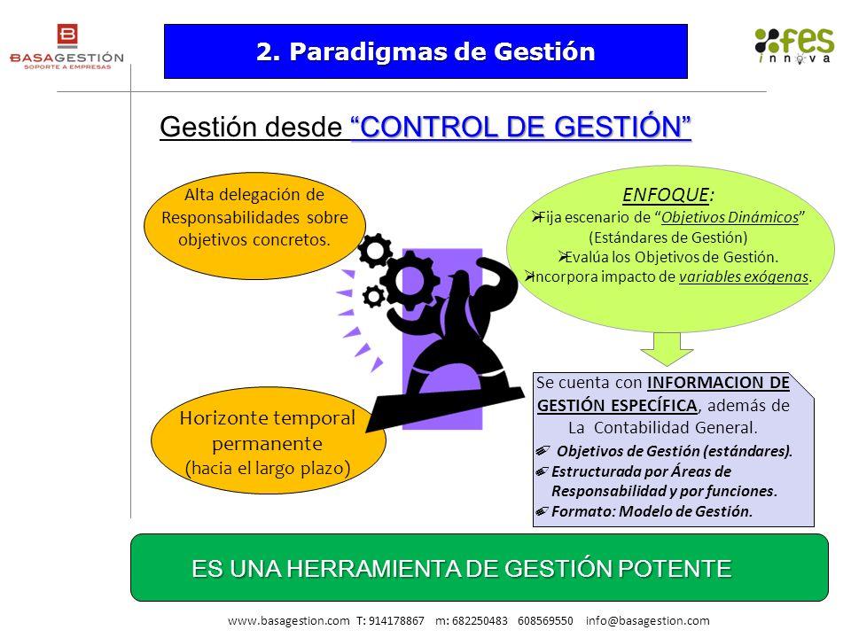 Gestión desde CONTROL DE GESTIÓN