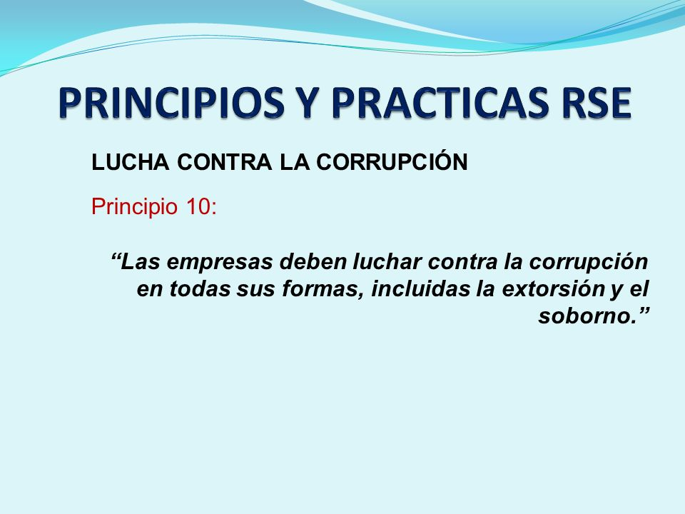 PRINCIPIOS Y PRACTICAS RSE