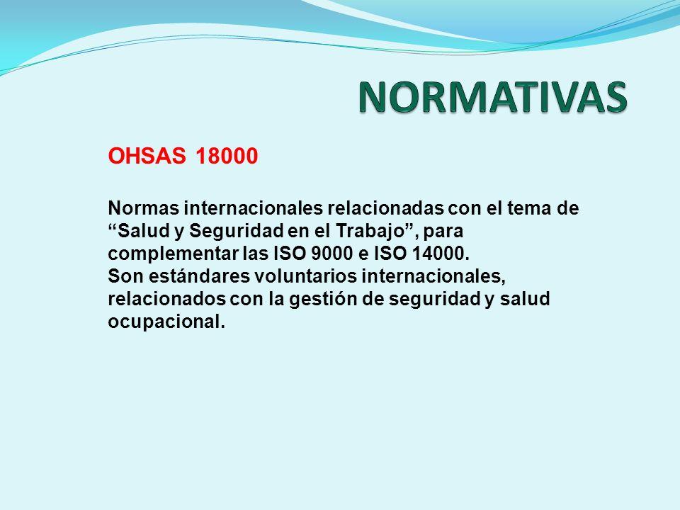NORMATIVAS OHSAS 18000.