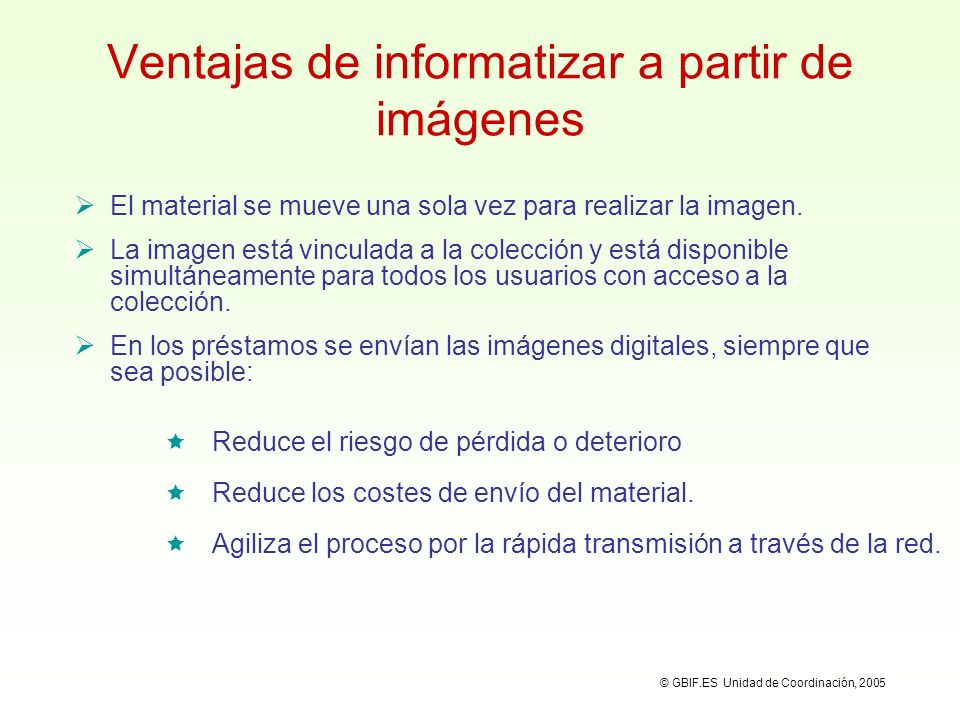 Ventajas de informatizar a partir de imágenes