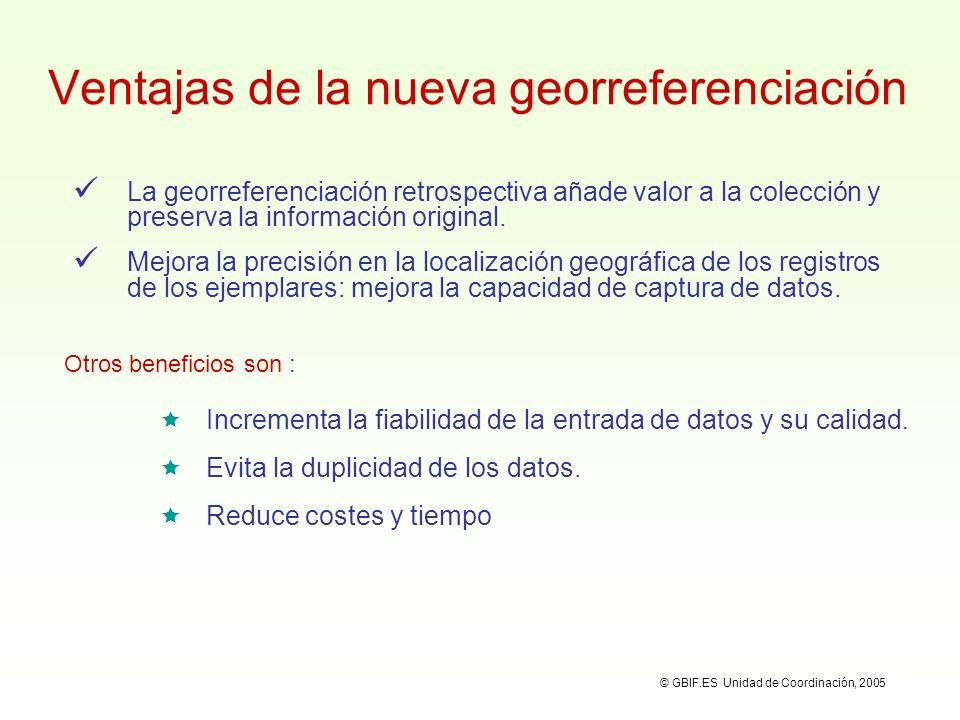Ventajas de la nueva georreferenciación