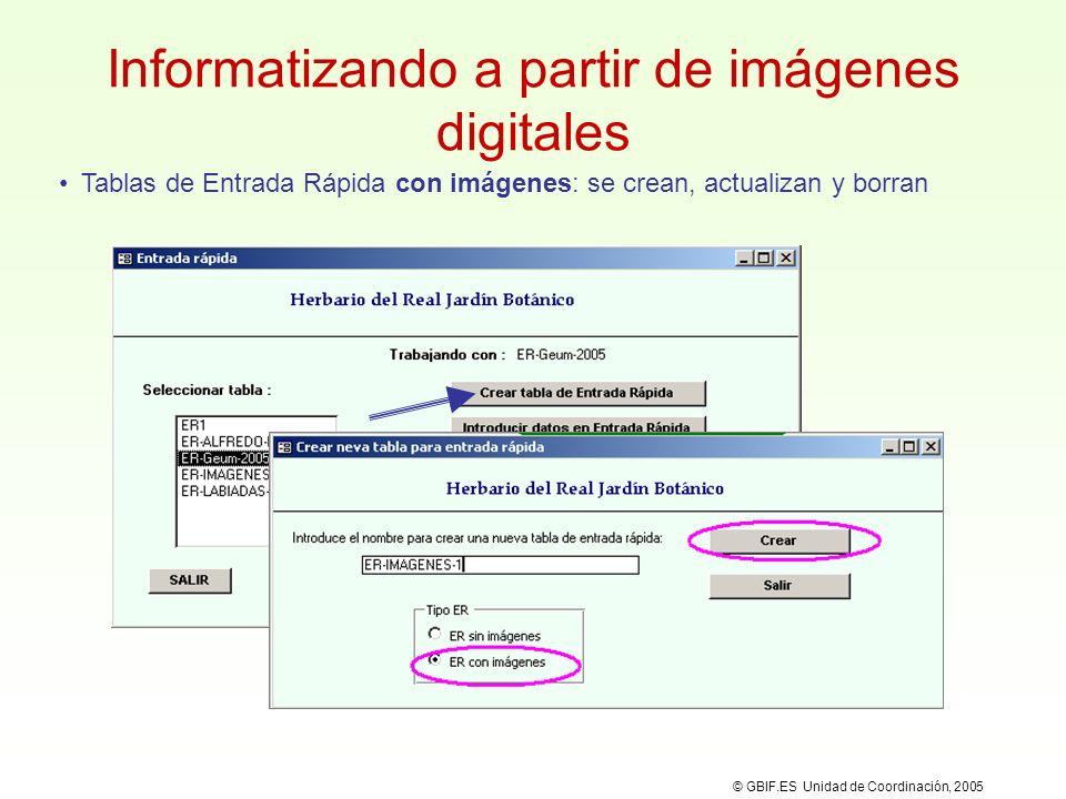 Informatizando a partir de imágenes digitales