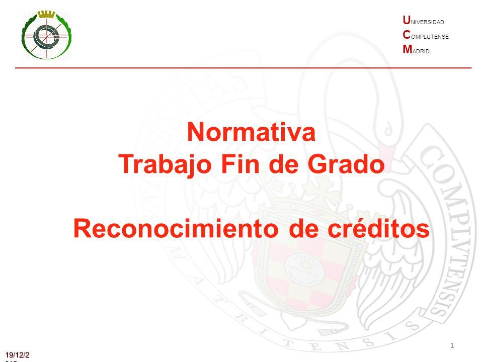 Reconocimiento de créditos