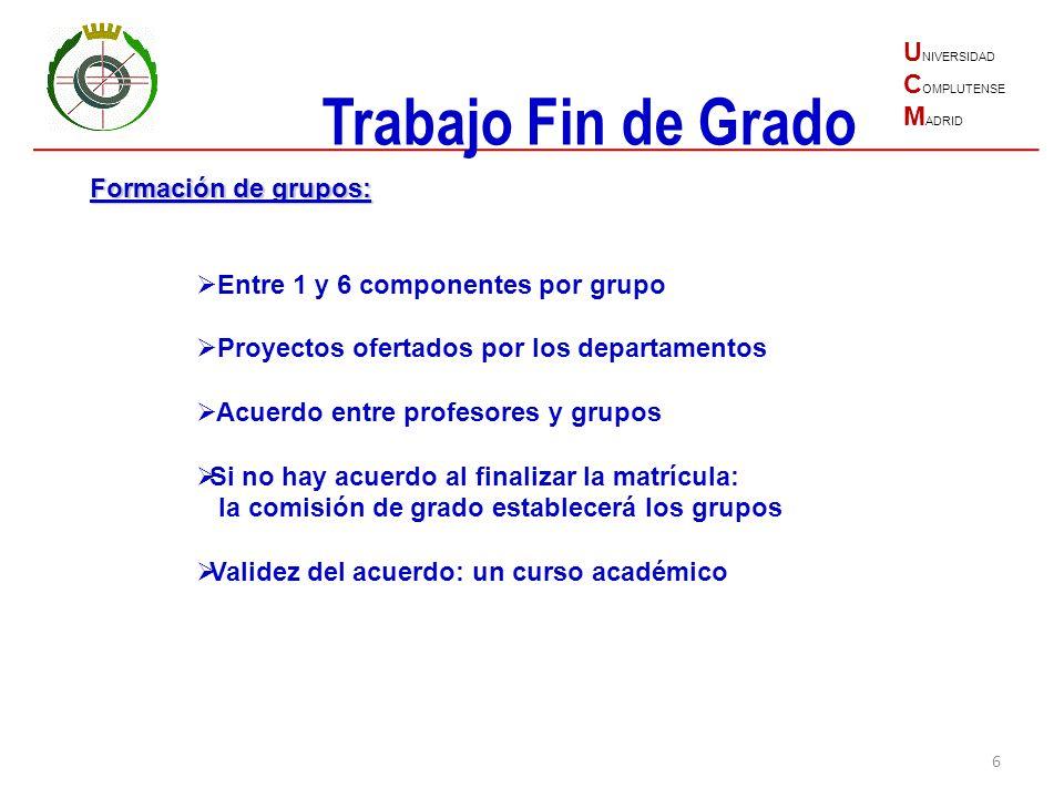 Trabajo Fin de Grado UNIVERSIDAD COMPLUTENSE MADRID