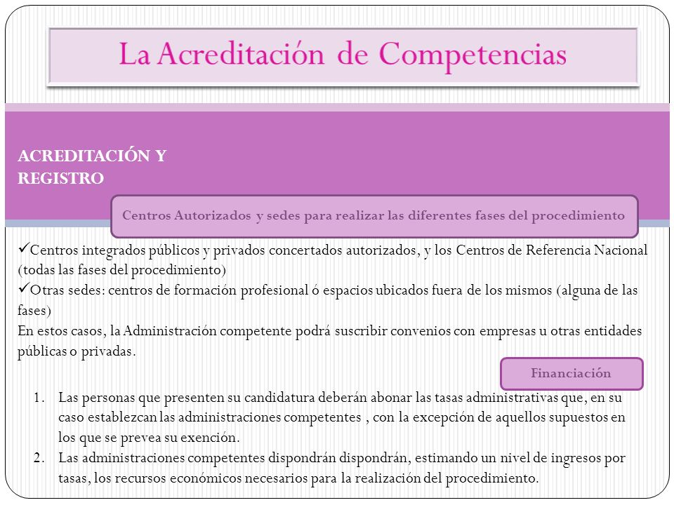 La Acreditación de Competencias