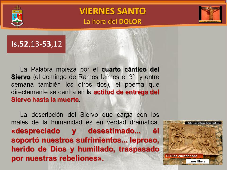 VIERNES SANTO Is.52,13-53,12 La hora del DOLOR