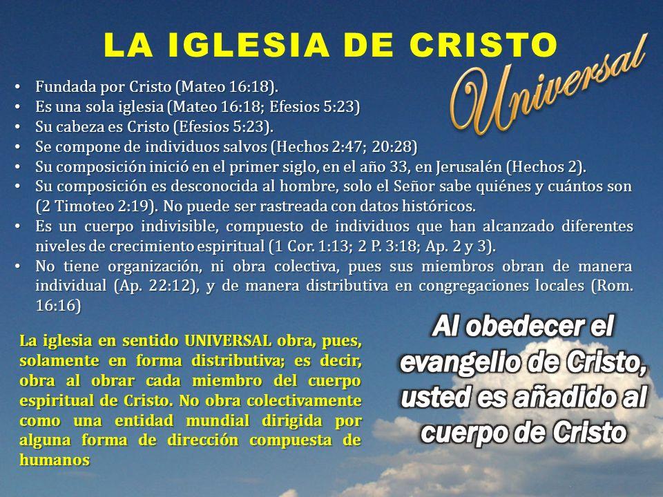 Universal La iglesia de Cristo
