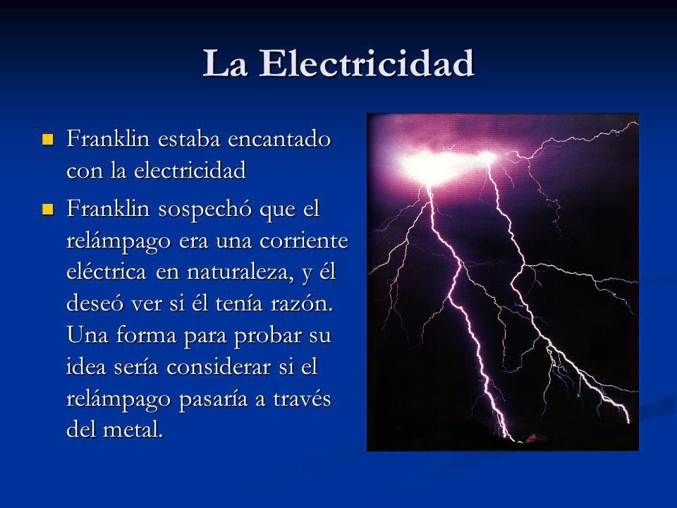 La Electricidad Franklin estaba encantado con la electricidad