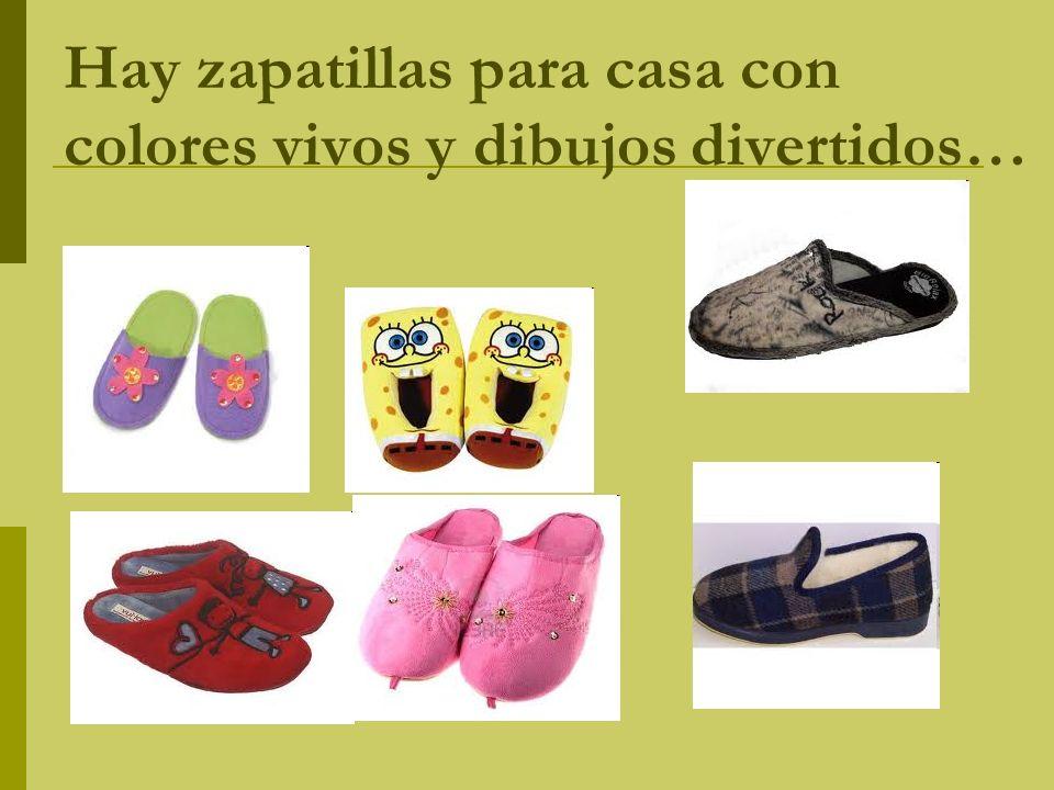 Hay zapatillas para casa con colores vivos y dibujos divertidos…