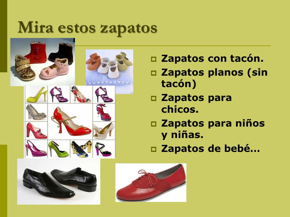 Mira estos zapatos Zapatos con tacón. Zapatos planos (sin tacón)