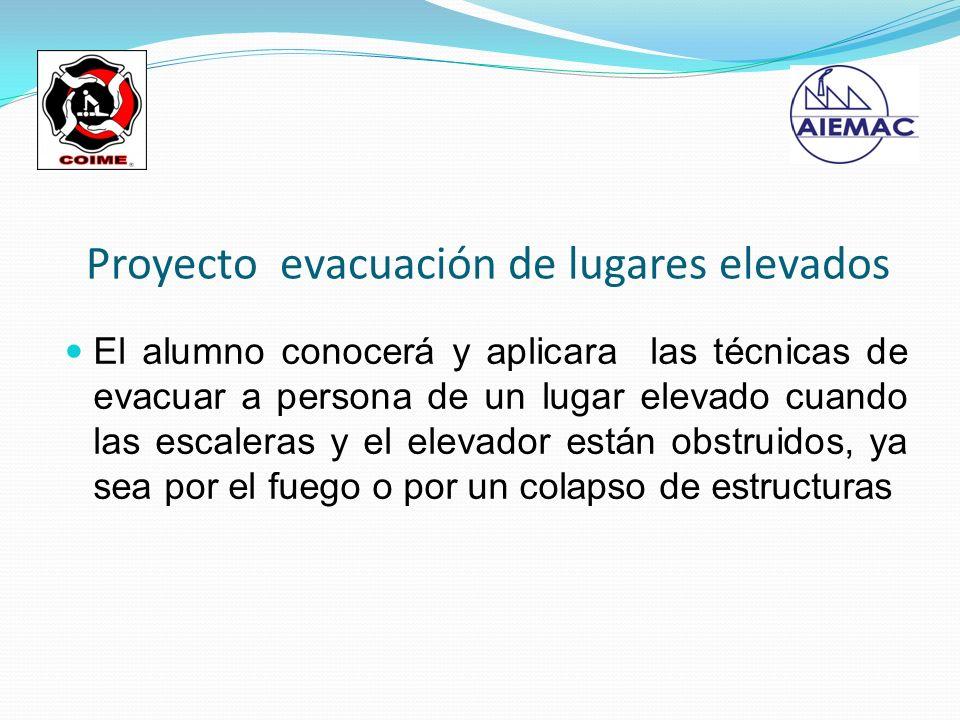 Proyecto evacuación de lugares elevados