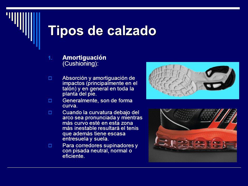 Tipos de calzado Amortiguación (Cushioning):