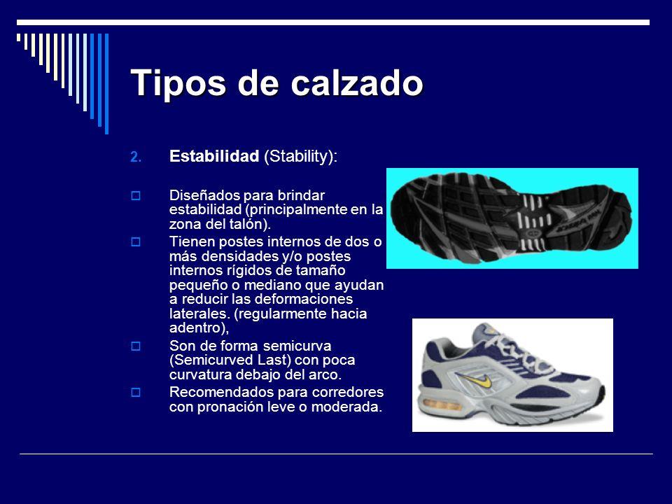 Tipos de calzado Estabilidad (Stability):