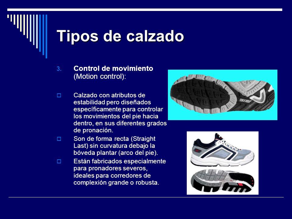 Tipos de calzado Control de movimiento (Motion control):
