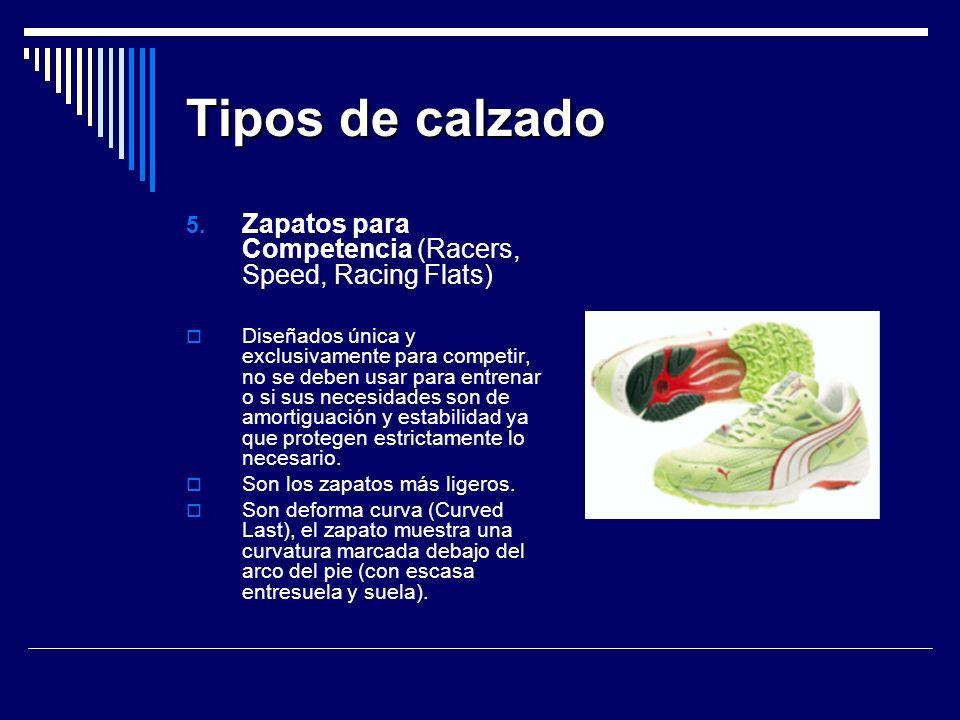 Tipos de calzado Zapatos para Competencia (Racers, Speed, Racing Flats)