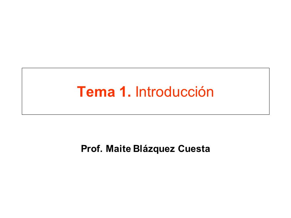 Prof. Maite Blázquez Cuesta
