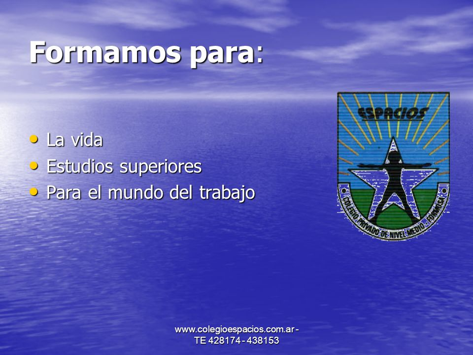 www.colegioespacios.com.ar - TE 428174 - 438153