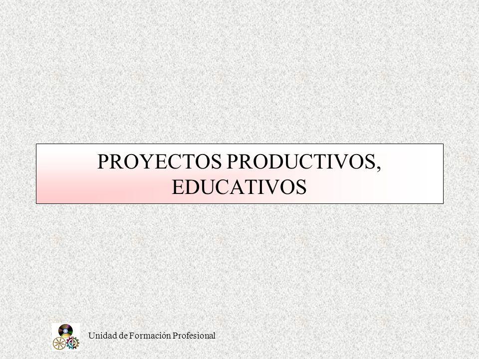 PROYECTOS PRODUCTIVOS, EDUCATIVOS