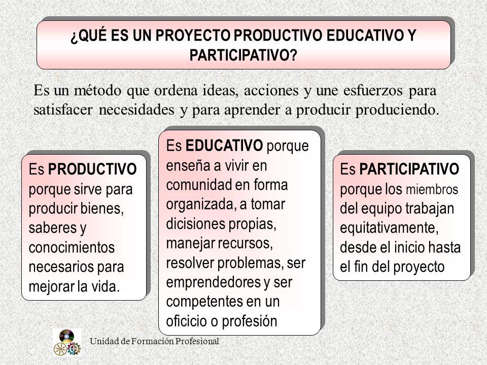 ¿QUÉ ES UN PROYECTO PRODUCTIVO EDUCATIVO Y PARTICIPATIVO