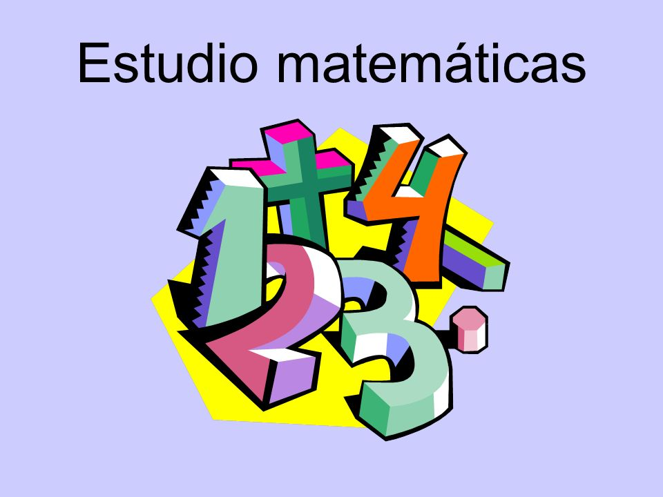 Estudio matemáticas