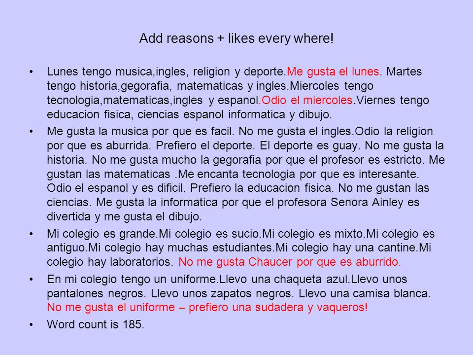 Add reasons + likes every where!